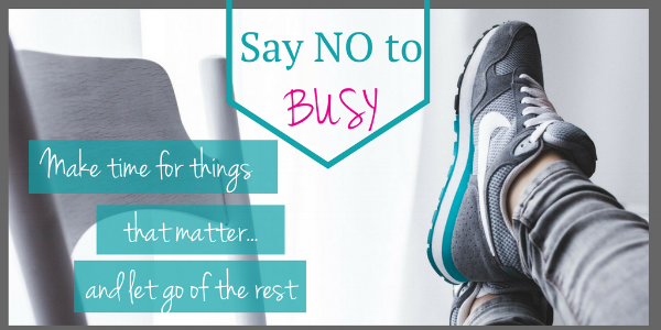 Say no to busy.feetup
