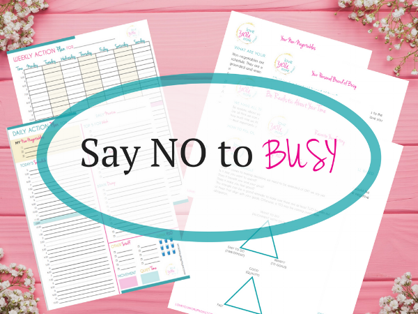 Say NO to Busy.worksheets