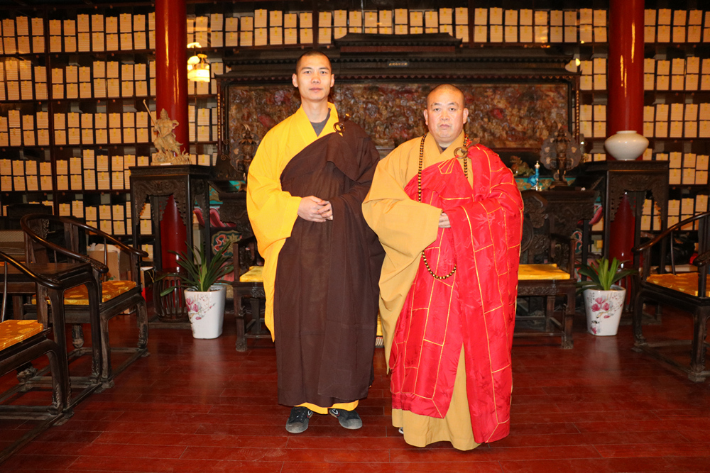 With Abbot Shi YongXin at the Shaolin Temple on New Years Day 2016.