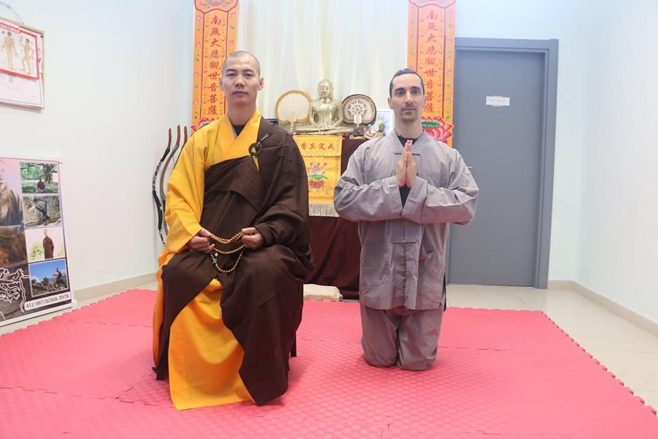 New disciple: Shi Hengzhi 释恒植 35 generation of Shaolin Temple