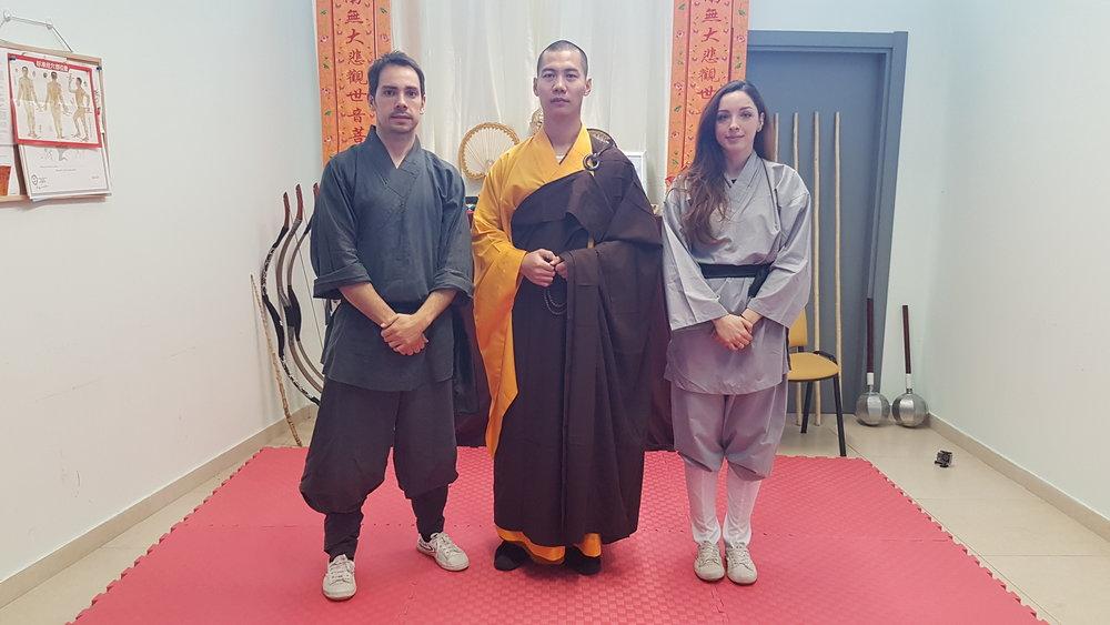 35 generation of Shaolin disciple 释恒青 Shi Hengqing 释恒梅 Shi Hengmei