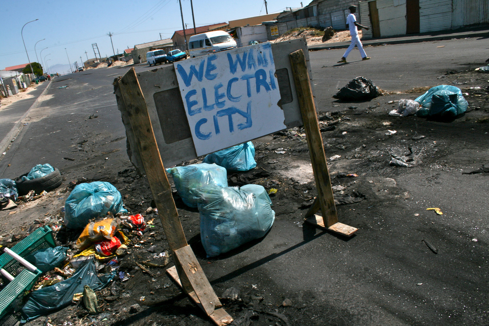Electricity shortages are common in Khayelitsha. Making matters worse, many homes are overcrowded. As a result, street protests are just as frequent as power outages.