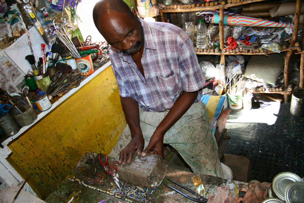 "In the home of artisan ""Golden"" Nongawuza, a former cow herder, nothing is wasted or misused."