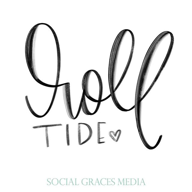 Seeing as how I'm from #alabama, it is considered sacrilegious not to pick between Auburn & Alabama from birth & bleed those colors - I'm a Bama girl 🐘! Congrats to the team, coaches, school & community that loves them...such an awesome game 🙌🏻😘!! #nationalchampionship2018 #crimsontide #handlettering #socialgracesmedia
