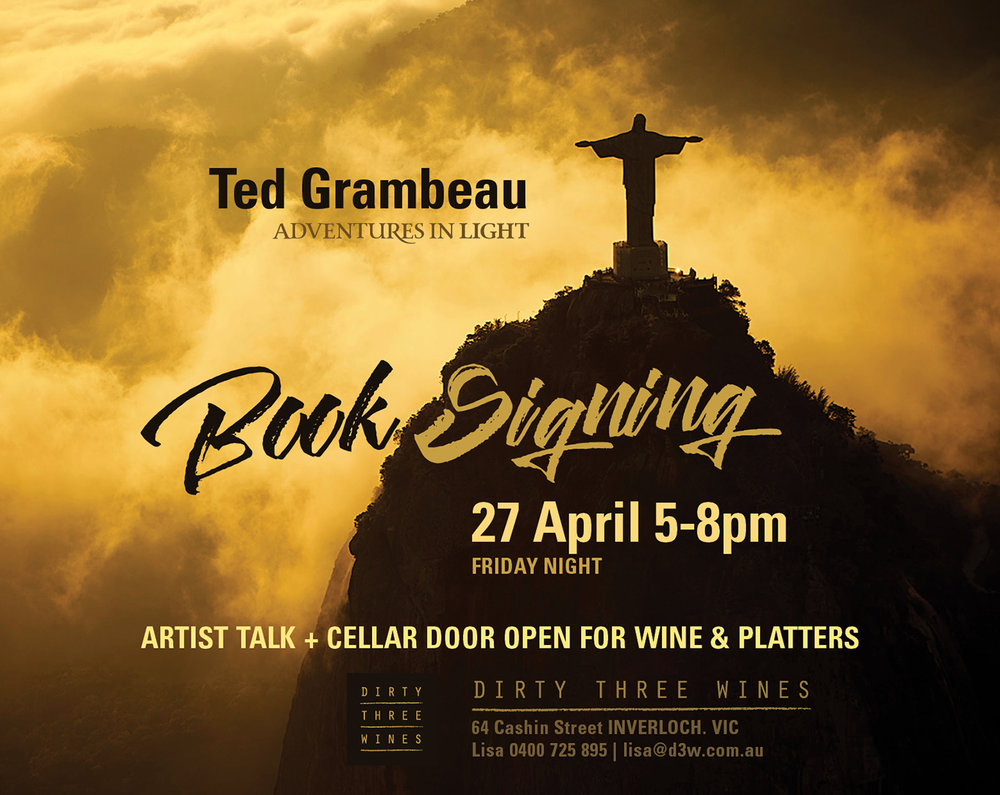 Ted Grambeau Book signing graphic design poster