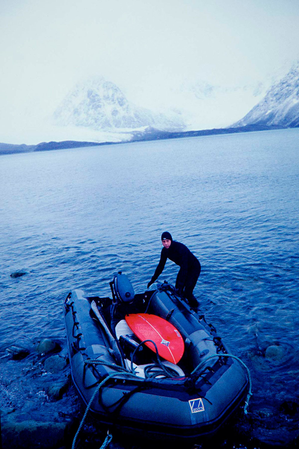 Jørn Dybdahl was living at latitude 78° north at Ny-Alesund in Spitsbergen, the northernmost settlement in the world c.2002