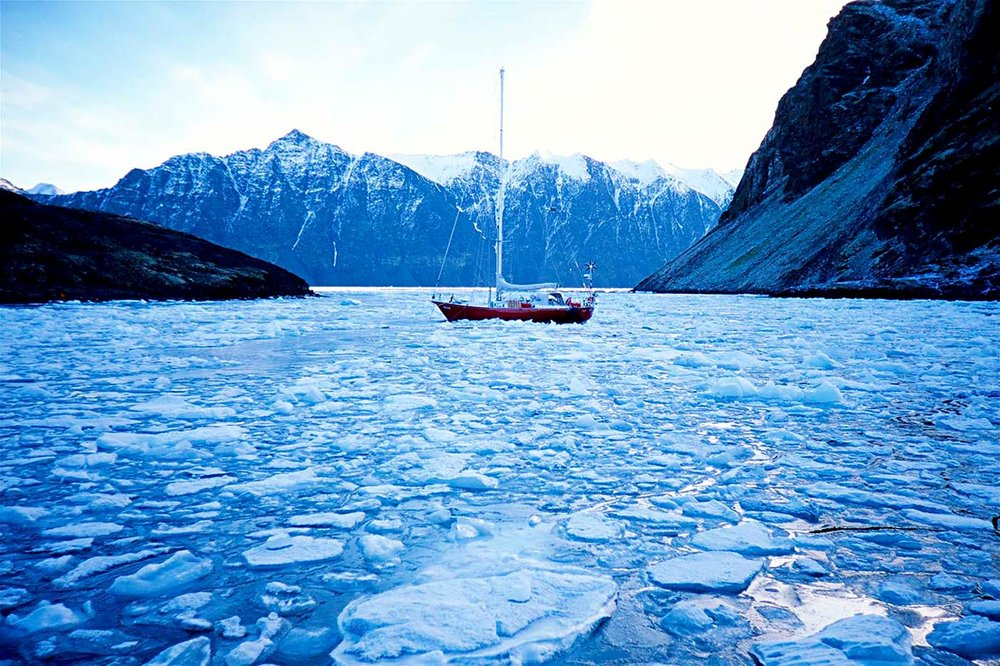 With the onset of winter we would be the last people that the crew of this boat would see for several months. They planned to spend the next four months in complete darkness, frozen in a northern bay surviving solely on their yachts supplies.