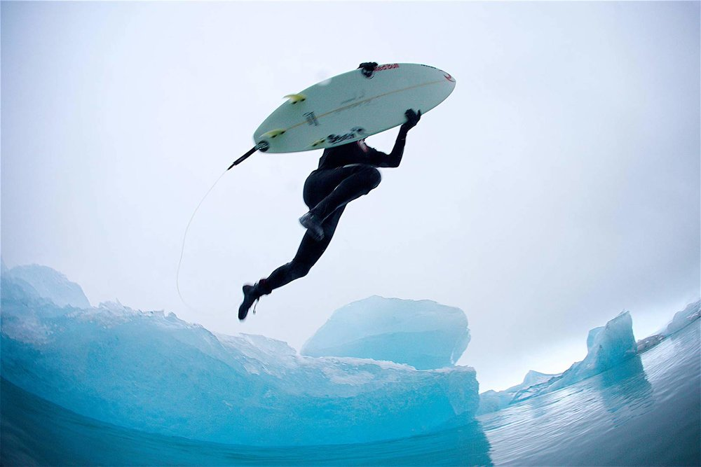 heated wetsuit commercial shoot for Rip Curl in Iceland