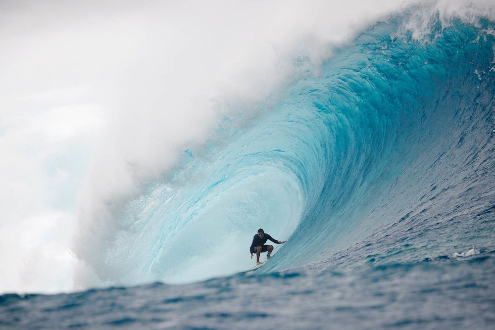 HAWAIIAN BIG WAVE SURFER Koa Rothman – Cloudbreak, FIJI.