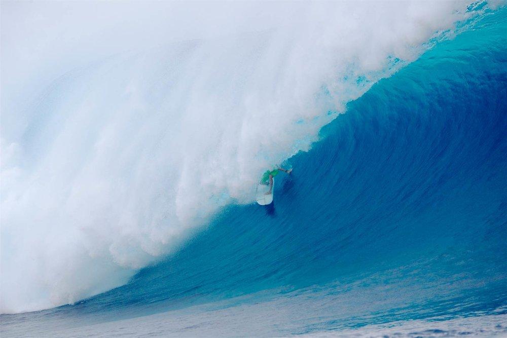 MONSTER CLOUDBREAK: Luke Shepardson from the North Shore, Oahu.