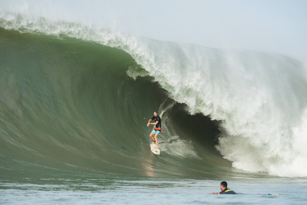 Matt Bromley consistently on the largest waves.