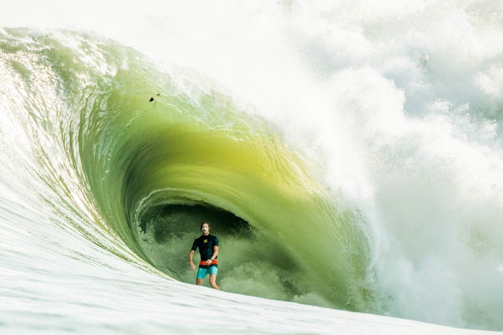 Matt Bromley surfing the biggest swell ever to hit Nias.
