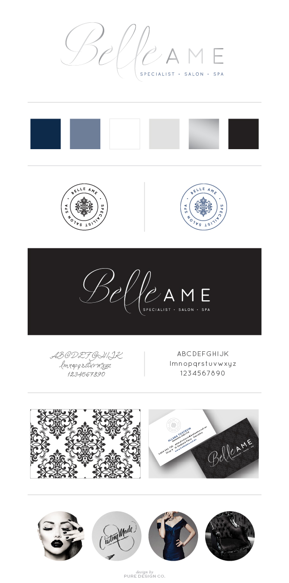 Pure Design Co_BelleAme Brand Board