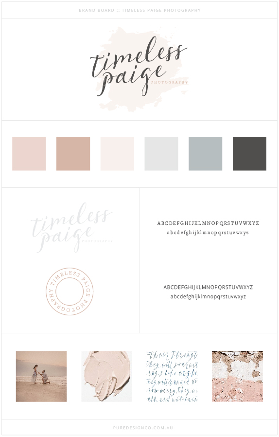Pure Design Co_Timeless Paige_Brand Board