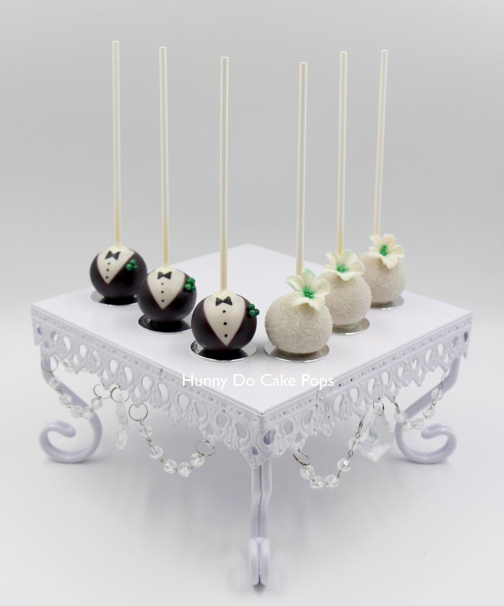 Bride n Groom flower cake pops HunnyDo 1.jpg