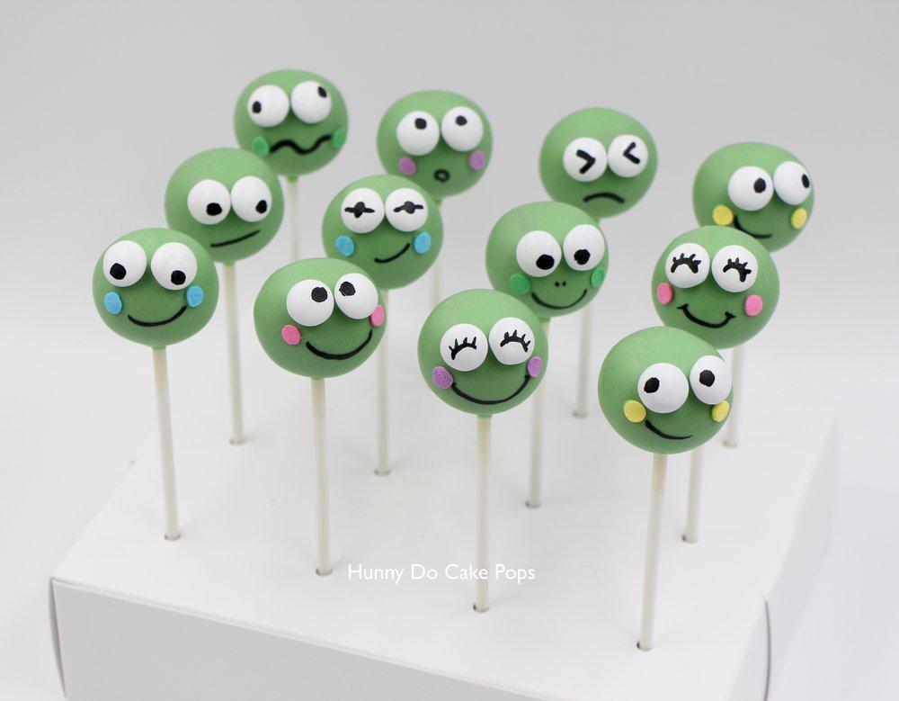 Keroppi Frog Cake Pops hunnyDo 2.jpg