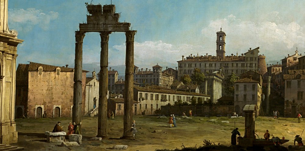 Bernardo Bellotto - Ruins of the Forum (ca. 1743)