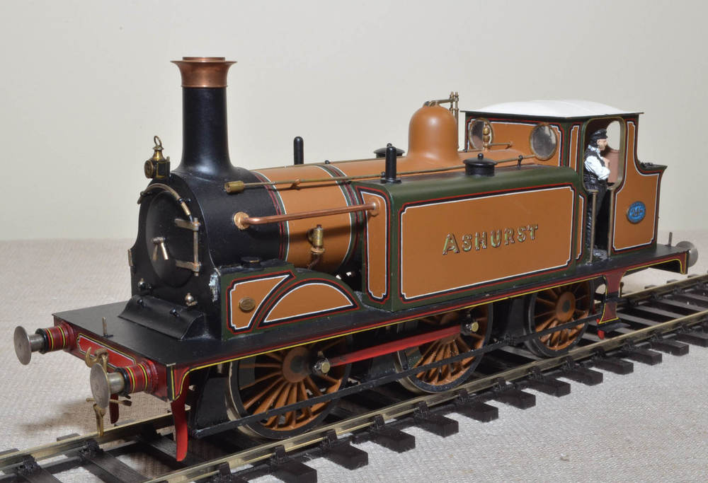 A very fine model of LBSCR Stroudley D1 class 0-4-2T Tank locomotive No 248 'Ashurst'  superbly painted by Les Richards, my good friend who sadly is no longer with us.