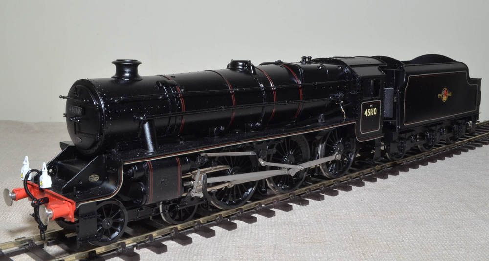 A fine model of Stanier 'Black Five No. 45110, the last BR steam loco to haul a passenger train in revenue earning service.