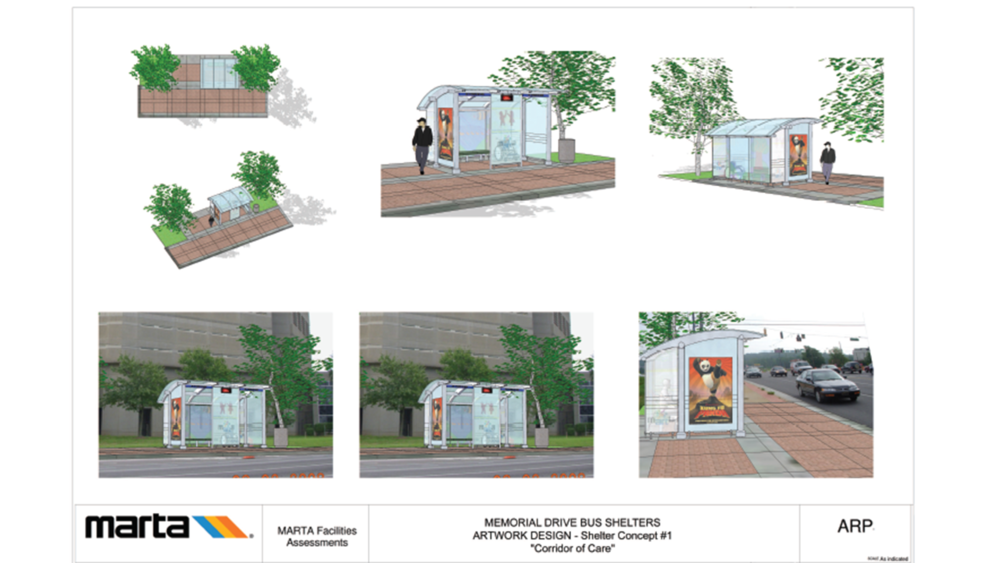 MARTA Memorial Drive Bus Shelters and Environmental Graphics
