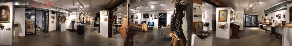 Panoramic view of Piano Craft Gallery, May 2018
