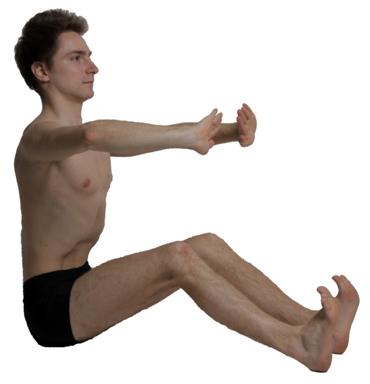 Рисунок 1. Упражнения LPF выполняются с брюшным вакуумом.