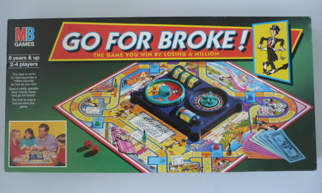Go For Broke. An excellent 1980s board game. It was becoming alarmingly useful this blog...