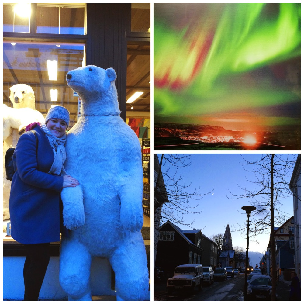 The tourist version: picture with a polar bear, the northern lights (not seen or photographed by me) and the winters light of an average day.