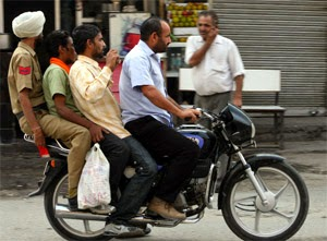 indians on a bike