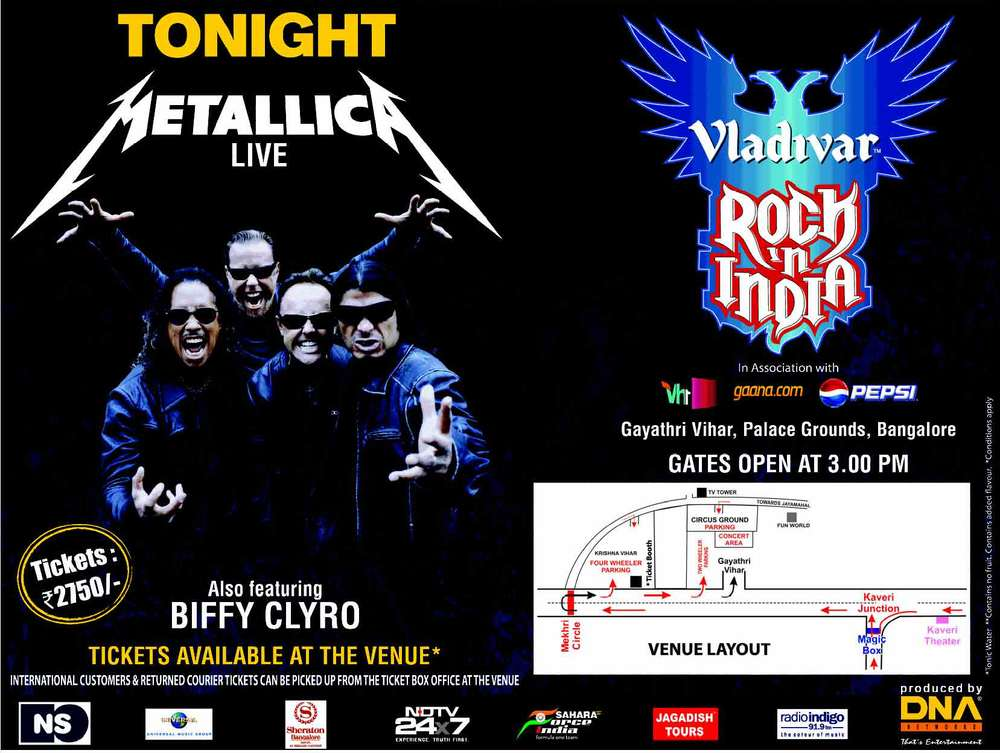 Metallica in bangalore