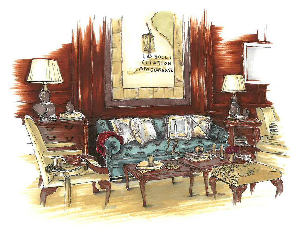 interior design hand drawings. Interior + Architectural Ink Rendered Hand Drawings Design