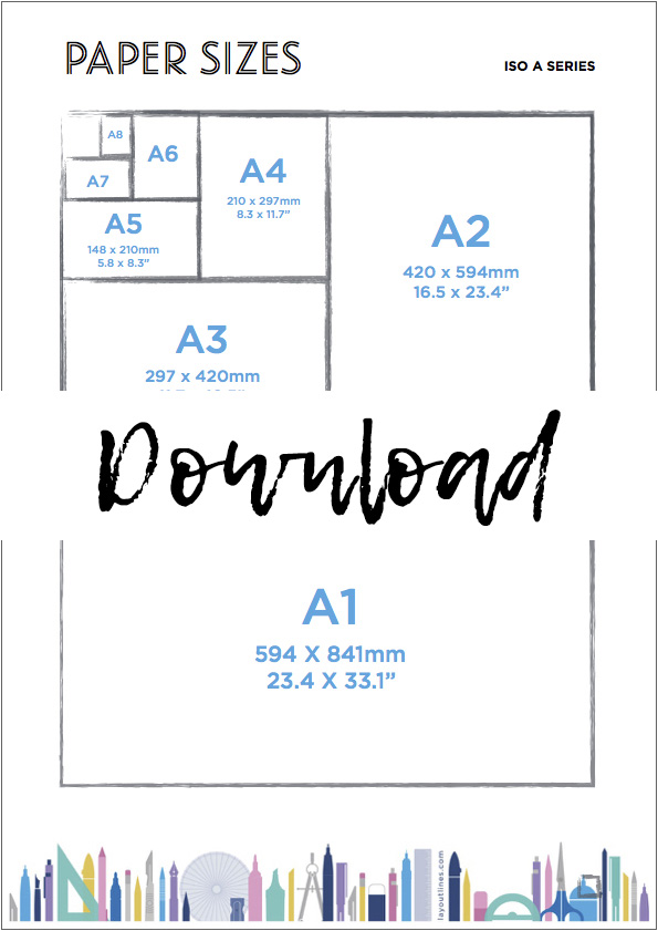 Paper Sizes cheat sheet