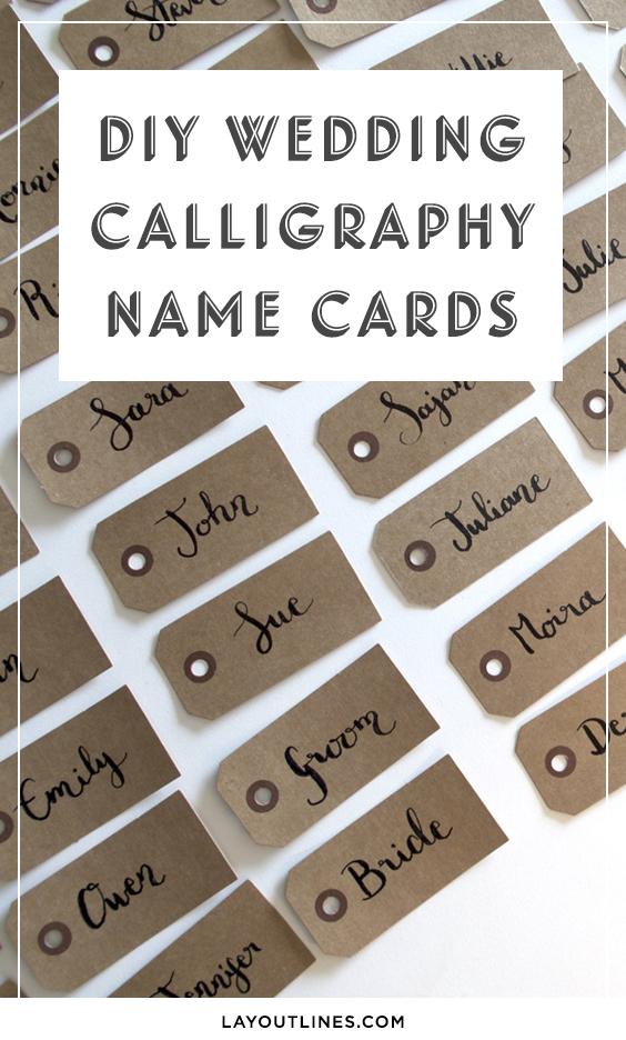Wedding Name Cards.Diy Wedding Calligraphy Name Cards Sonia Nicolson