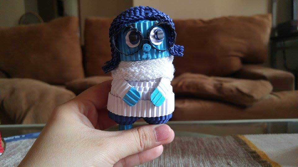 Starting with Chinese dolls, Ash now experiments with different designs! Here's Sadness from Inside Out!