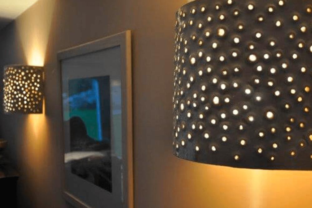 Lamp shades & Tiles