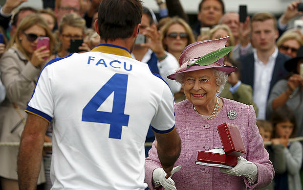 Pieres was awarded man of the match by the Queen (GETTY)