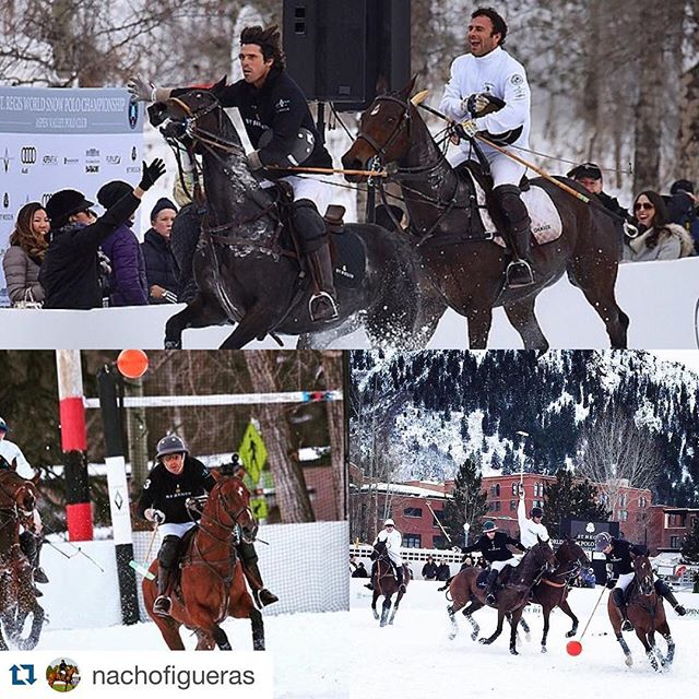 #Repost @nachofigueras ・・・ @stregishotels World Cup on Snow this past weekend. #snowpolo @aspenvalleypolo #Aspen