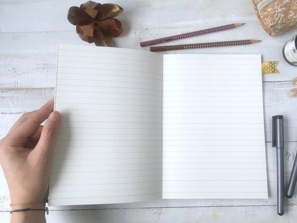 Notizhefte - liniert | blanko | 48 Seiten Umweltpapier | DIN A5individueller Siebdruck