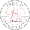 badge french wedding style
