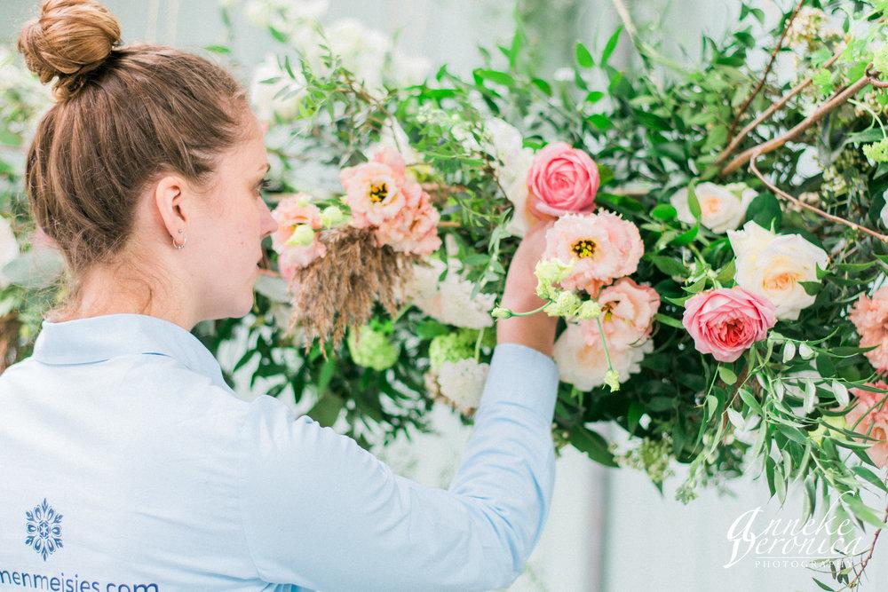 Bloemstyling voor bruiloft