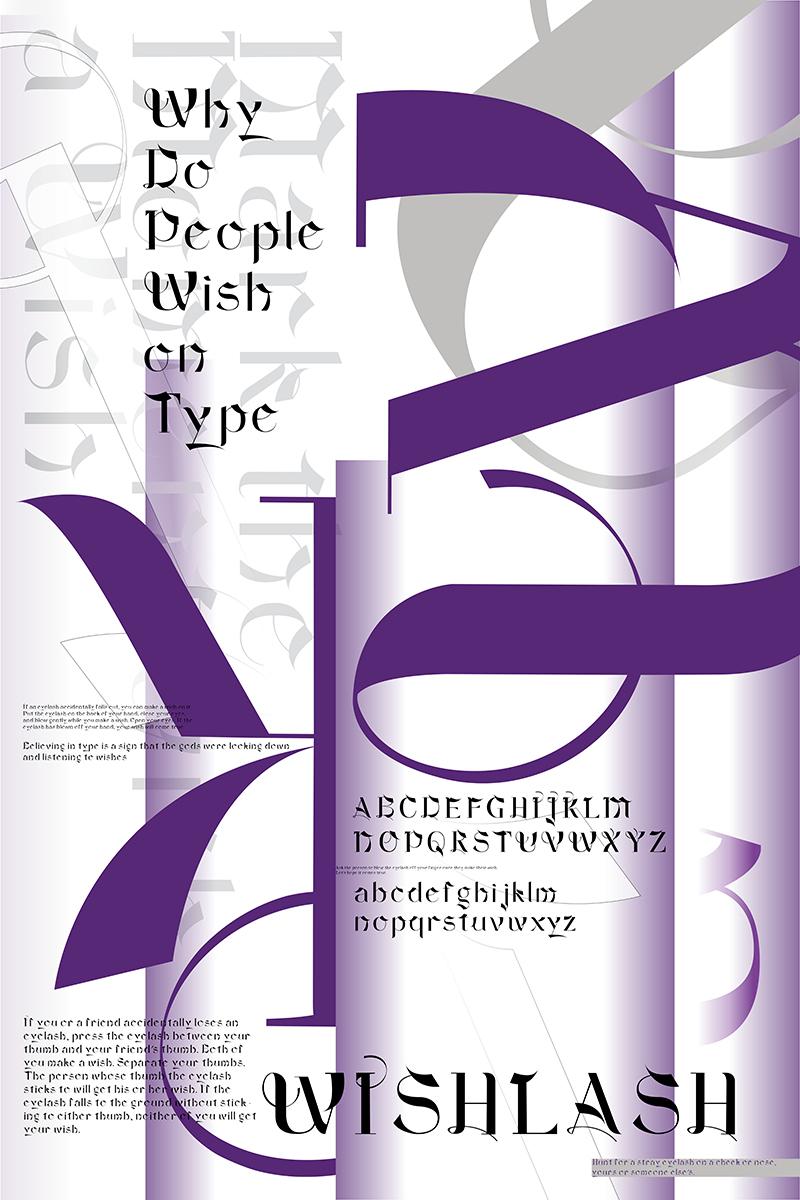 wishlash type specimen poster