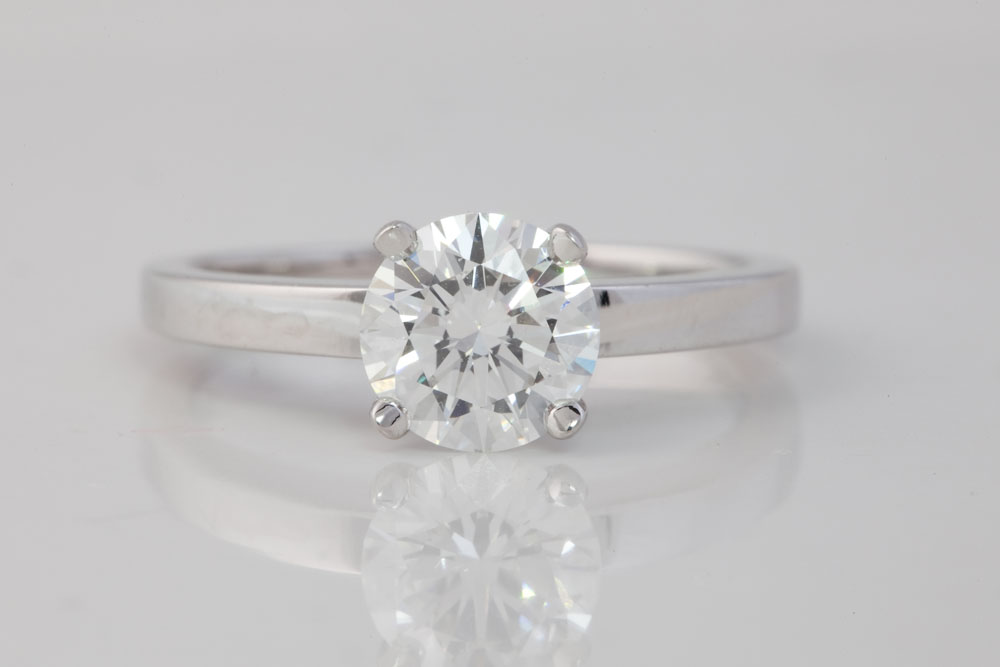Brilliant Cut Solitaire Diamond Ring