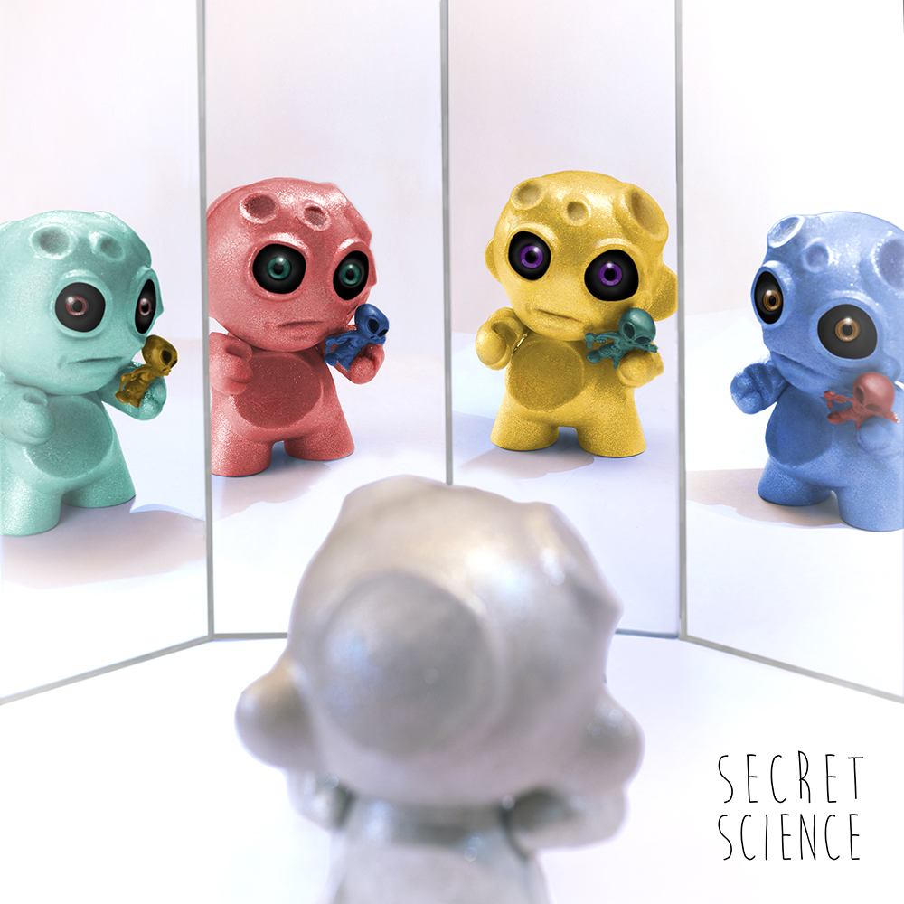 Secret Science LP artwork    in collaboration w/ toy-maker Ulises Barberik Espinoza