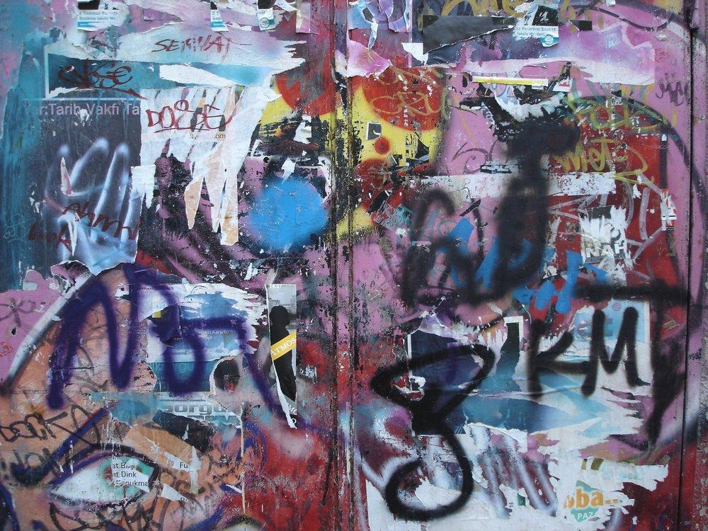 Wall in Beyoglu, Istanbul, Turkey