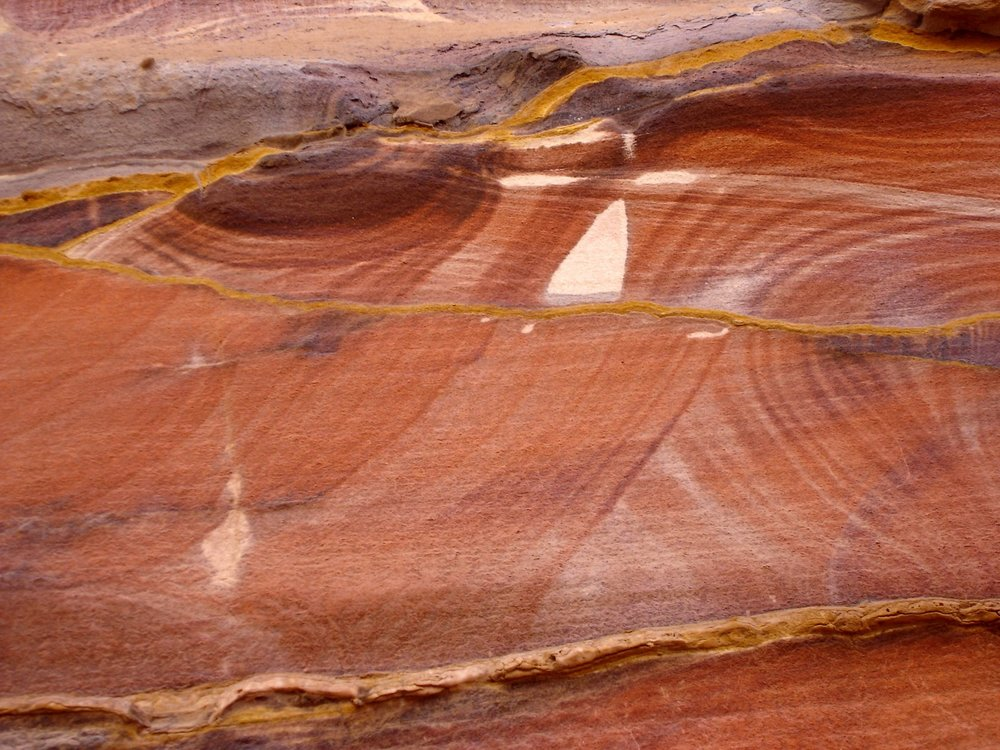 Cave wall in Petra, Jordan