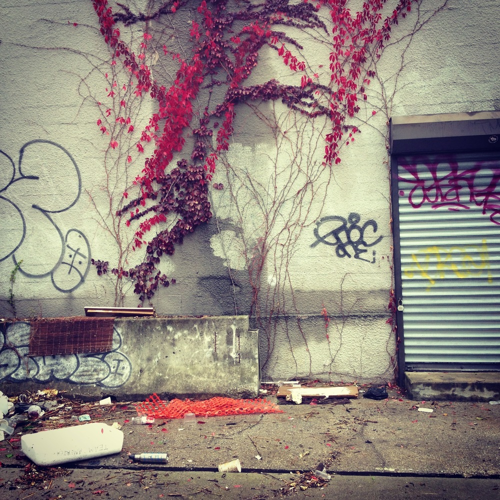 Urban scene in Brooklyn, New York (after Hurricane Sandy)