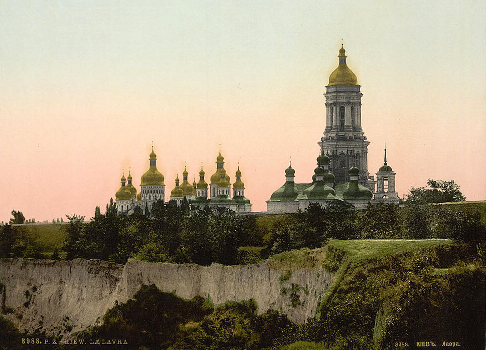 Wikimedia. 9th-century photo of the Kiev Pechersk Lavra in Kiev, Russian Empire (now Ukraine).