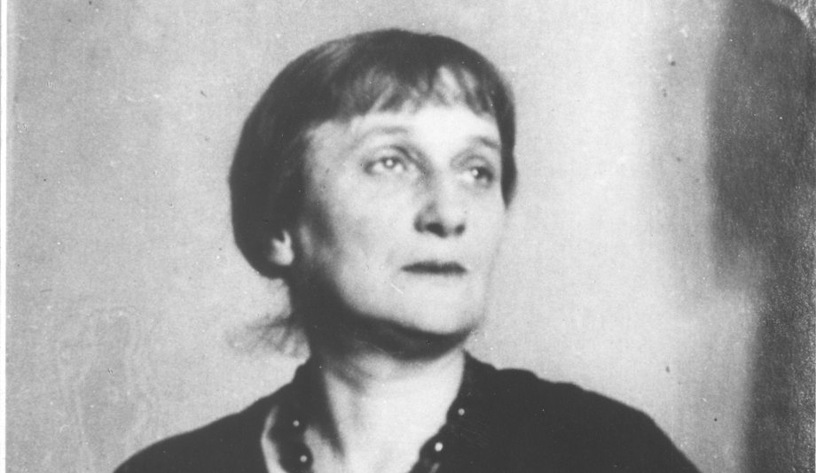"The poet Anna Akhmatova (1889 – 1966). Her work ""Requiem"" was a formal achievement, bearing witness to Stalinist persecution."