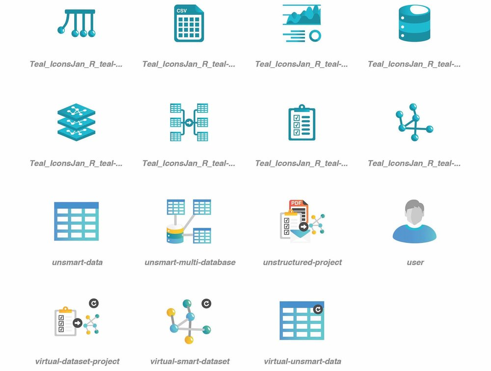 Anzo Smart Data Lake Flat Icons