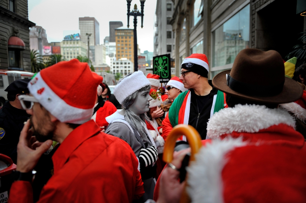 Santa Con.  San Francisco, California.  Shot for the Associated Press.